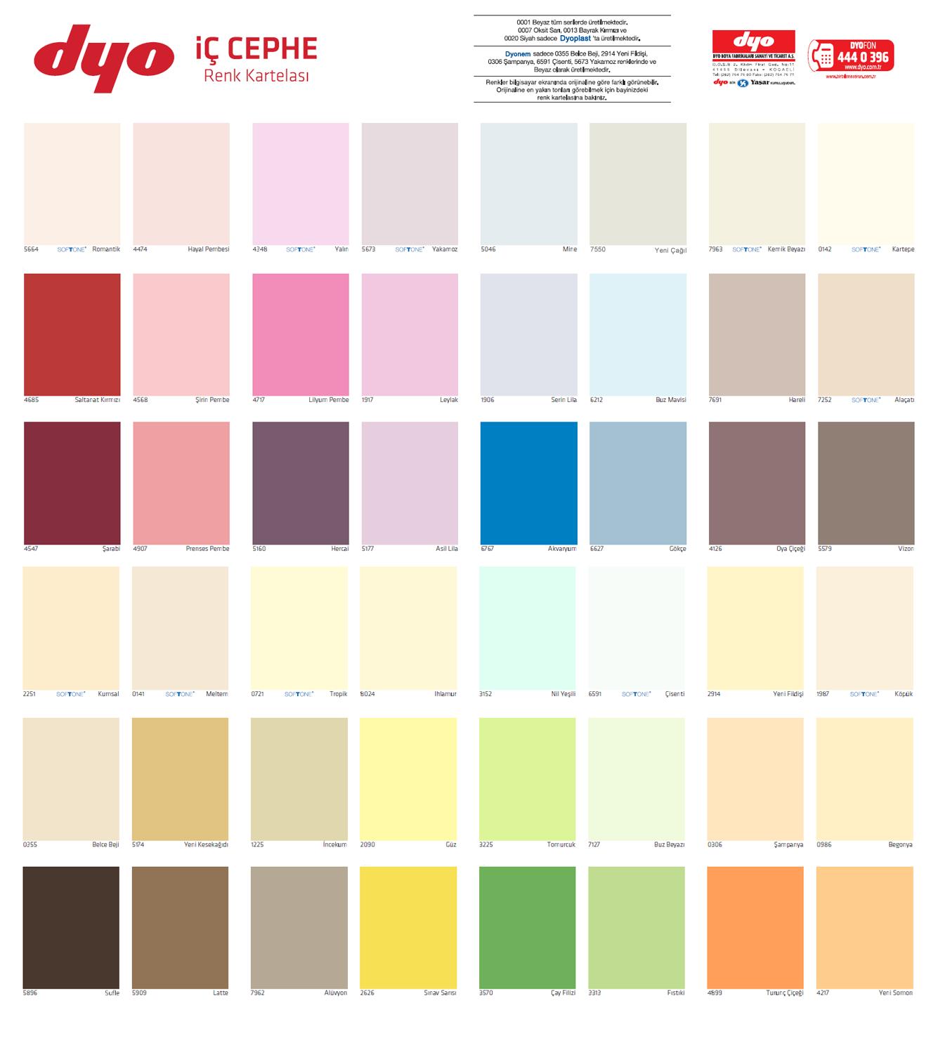 Dyo köpük renk